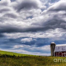 Different Perspective Barn and Cloudscape by Thomas R Fletcher