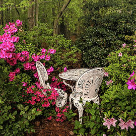 Dining Al Fresco Among the Azaleas  by Ola Allen