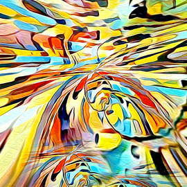 Diverting colorful  view abstract by Silver Pixie