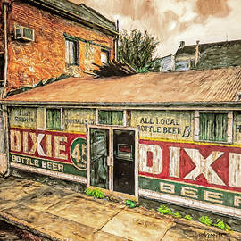 Dixie Beer Sign New Orleans by Rebecca Korpita