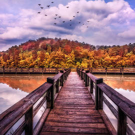Dock into Autumn by Debra and Dave Vanderlaan