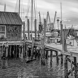 Docked On Shem Creek by George Moore