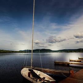 Docked Sailboat by David Patterson