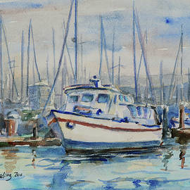 Docking at Grand Marina Alameda California by Xueling Zou