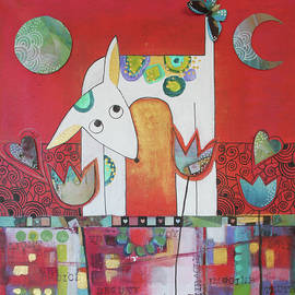 Dog and butterfly   by Johanna Virtanen