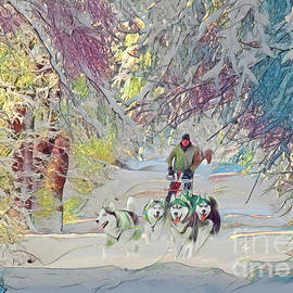 Dog sled ride by Louise Lavallee