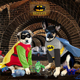 Dogs Play Batman and Robin by Michele Avanti