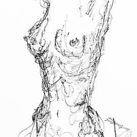 Doodle Nude Series - 001 by Debora Lewis