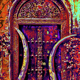 Door. Elephant tusks. Stone Town. by Andy i Za