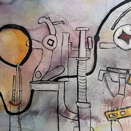 Door Lock with Yellow Balloon by L A Feldstein