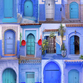 Doors of Chefchaouen, Morocco by Michael Chiabaudo