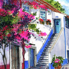 Doors of Obidos Painting by Dora Hathazi Mendes