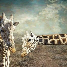 Double Giraffe by Anita Hubbard