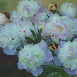 Double Peonies Still Life by Isabela and Skender Cocoli