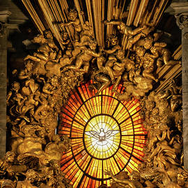 Dove of the Holy Spirit in St Peter Basilica by Artur Bogacki