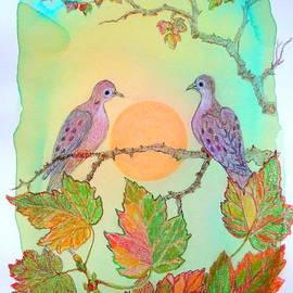 Doves and the Rising Sun by Anna Folkartanna Maciejewska-Dyba