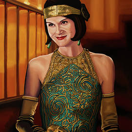 Downton Abbey Painting 2 Michelle Dockery as Lady Mary by Paul Meijering
