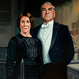 Downton Abbey Painting 3 Mr Carson and Ms Hughes by Paul Meijering
