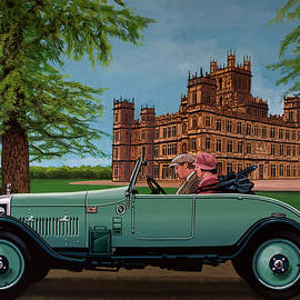 Downton Abbey Painting 4 Highclere Castle by Paul Meijering