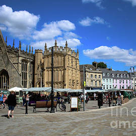 Downtown Cirencester on Market Day by Doc Braham