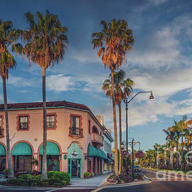 Downtown Venice Florida at Golden Hour by Liesl Walsh