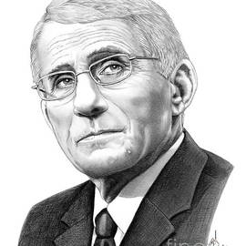 Dr Anthony Fauci drawing by Murphy Art Elliott