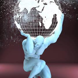 Dr Manhattan as Titan Atlas by Joaquin Abella