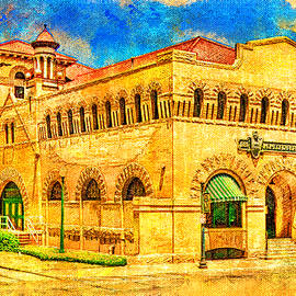 Dr Pepper Museum in Waco, Texas - digital painting by Watch And Relax