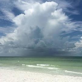 Dramatic Cloud Formation Over Ocean Lido Key Florida