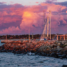 Dramatic Evening Light by Kim Lessel