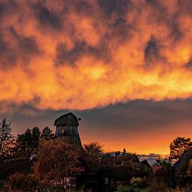 Dramatic Evening Sky After Sunset