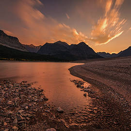 Dramatic sky at Sherburne Lake by Pierre Leclerc Photography