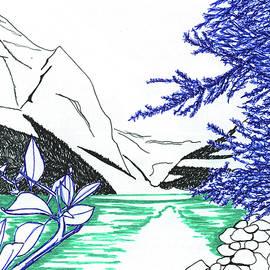Draw Lake Louise by Earl Rina
