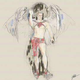 Drawing of an angel by Joaquin Abella