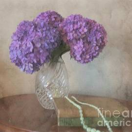 Dreamy Hydrangea and Pearls by Luther Fine Art