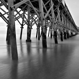 Dreamy Pier Black And White by Dan Sproul