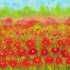 Dreamy Poppy Garden by Nishma Creations