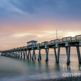 Dreamy Sunset at Venice Fishing Pier, Florida by Liesl Walsh