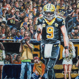 Drew Brees in the Dome  New Orleans, Louisiana  by Misha Ambrosia