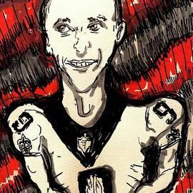 Drew Brees New Orleans Saints  by Geraldine Myszenski
