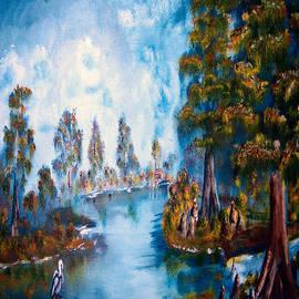 dry brush marsh in Louisiana by Garland Oldham