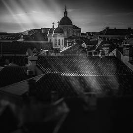 Dubrovnik Old Town, Church Dome and Sun Rays by Silvijo Selman