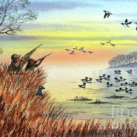 Duck Hunting With Dad For Goldeneye by Bill Holkham