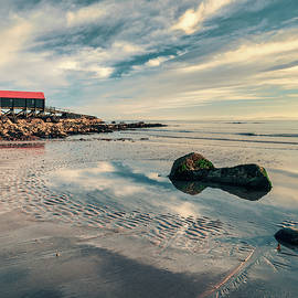 Dunaverty Beach and Lifeboat Station by Dave Bowman