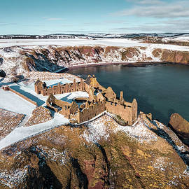 Dunnottar Winter View by Dave Bowman