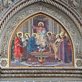 Duomo Exterior Mosaic of Christ Enthroned by Marlin and Laura Hum