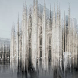 Duomo of Milan, intentional camera movement abstraction  by Casimiro Art