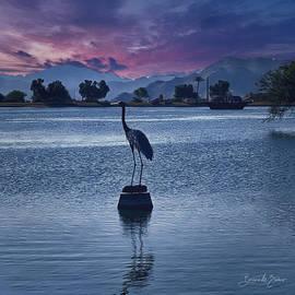 Dusk at the Lake by Barbara Zahno
