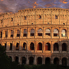 Dusk at The Roman Colosseum by Robert Blandy Jr
