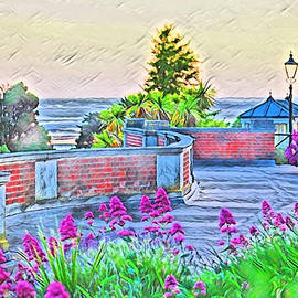 Dusk Falling Over Cliff Garden by Loretta S